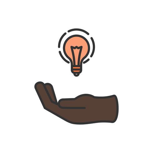 Ilustración del icono de la bombilla