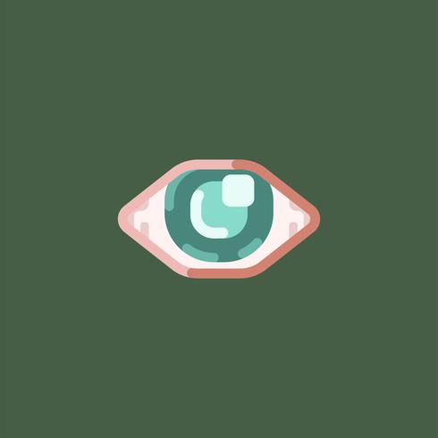 Visão sensações olho icon ilustração