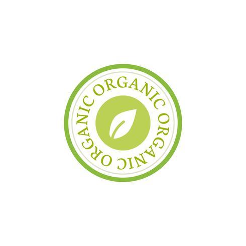 ilustração de distintivo de emblema de selo orgânico