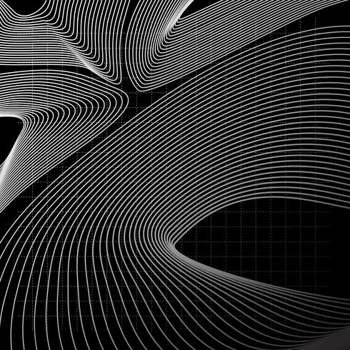 Illustrazione al tratto astratto monocromatico
