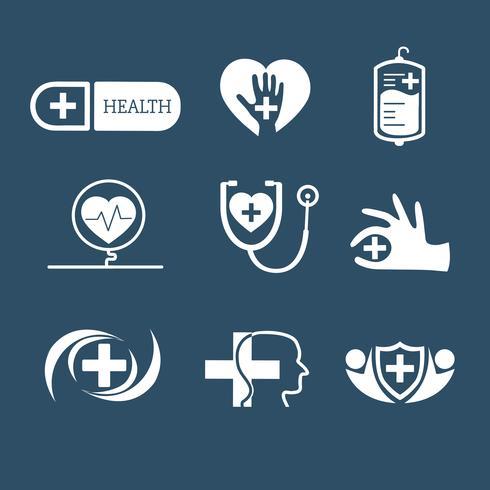 Ensemble de vector logos service médical