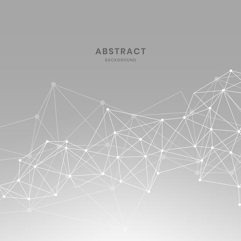 Gray neural network illustration