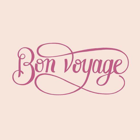Bon voyage typographie design illustration