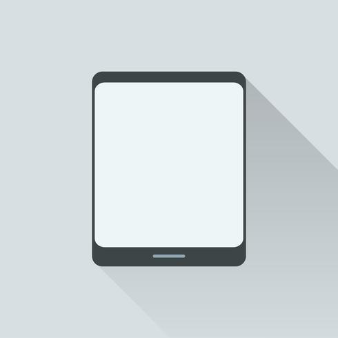 Abbildung der digitalen Tablette getrennt