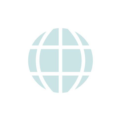 Vetorial, de, global, ícone
