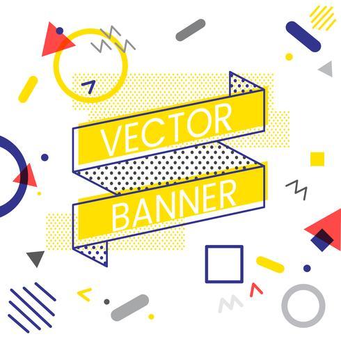 Progettazione di banner banner del nastro