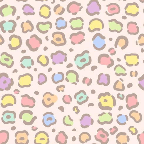 Vetor de padrão de impressão animal colorido sem emenda