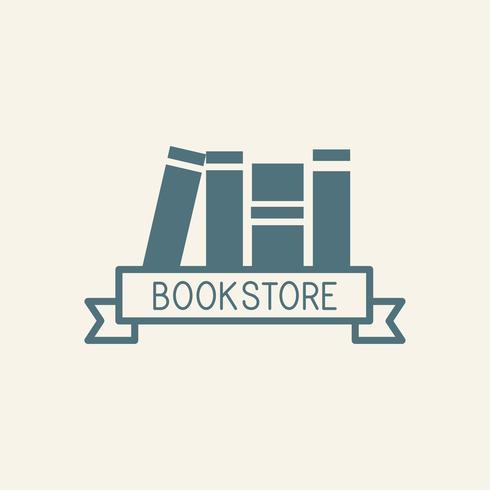 Librairie et papiers vectoriels logo