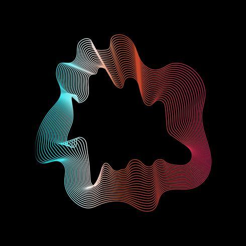 Färgglada abstrakta konturlinjer samling