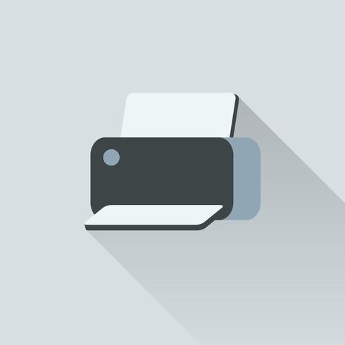 Ilustração de impressora