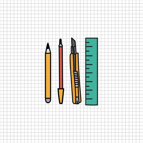 Estilo de desenho de ilustração estacionária