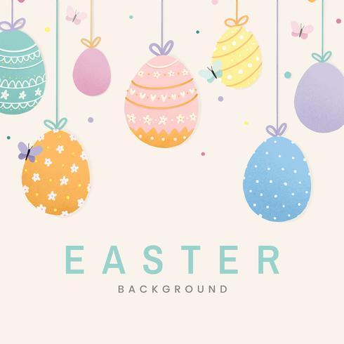 Frohe Ostern Kartenentwurf