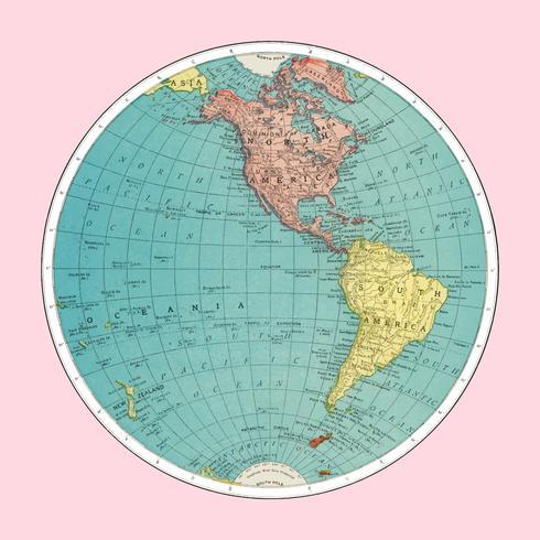 Hemisfério Ocidental, Atlas Mundial por Rand, McNally e Co. (1908) Melhorado digitalmente por rawpixel.