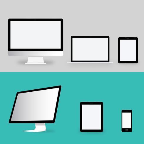 Illustratie van digitale apparaten geïsoleerd