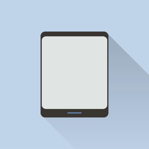 Ilustração de tablet digital isolado