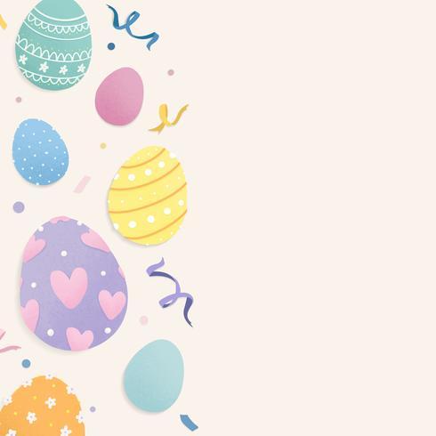 Espaço de design temático de feriado de Páscoa