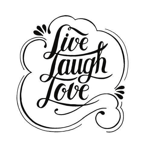 Live Lachen Liebe Typografie Design