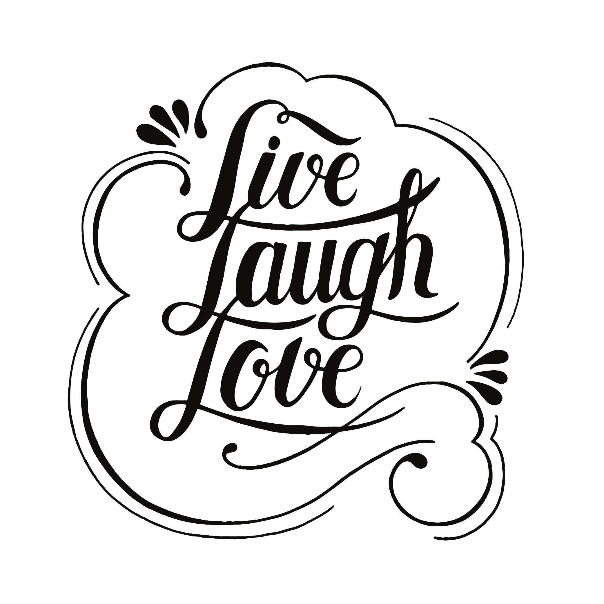 Download Live laugh love typography design - Download Free Vectors ...