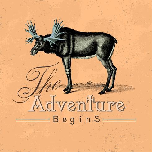 Het avontuur begint met logo-ontwerpvector