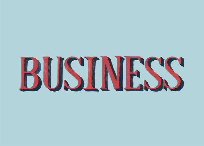 Estilo manuscrito de tipografía de negocios.