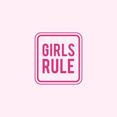 Meisjes regel embleem badge illustratie