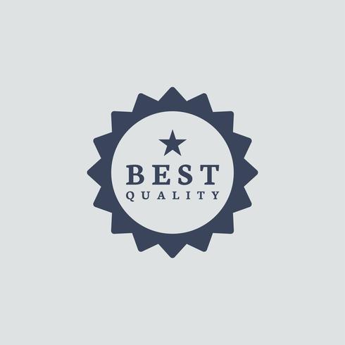 Beste Qualitätsauszeichnung Stempelvektor