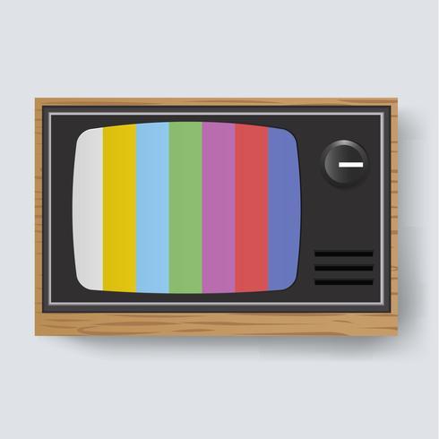 Illustrazione dell'icona della televisione retrò