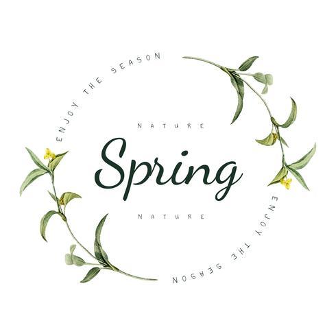 Vecteur de conception de logo nature printemps