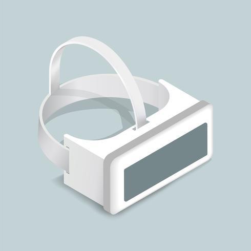 Vektorbild der Schutzbrillenikone der virtuellen Realität