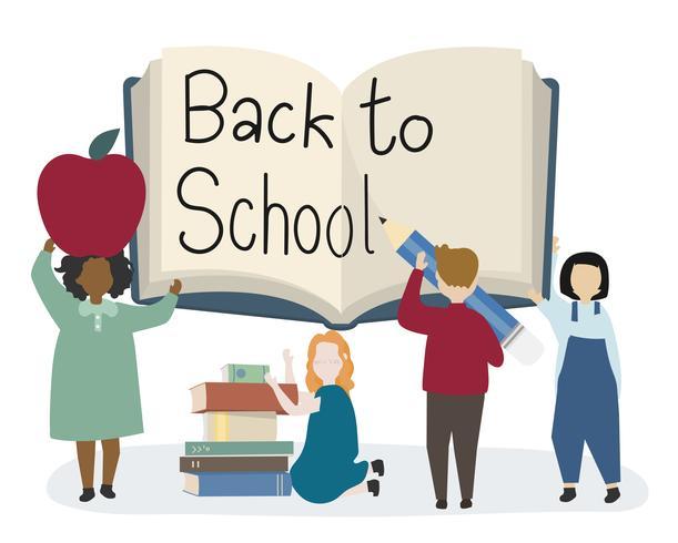 Bambini felici tornano a scuola