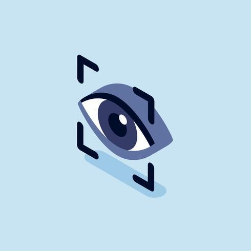 Illustrazione della scansione di riconoscimento degli occhi