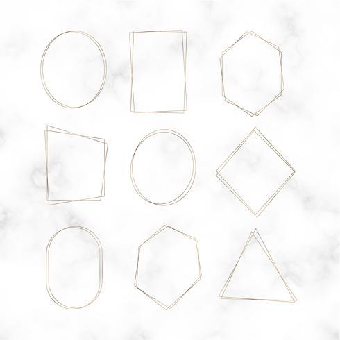 Gouden lege frame vector set