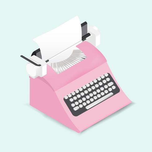 Vector de retro icono de máquina de escribir
