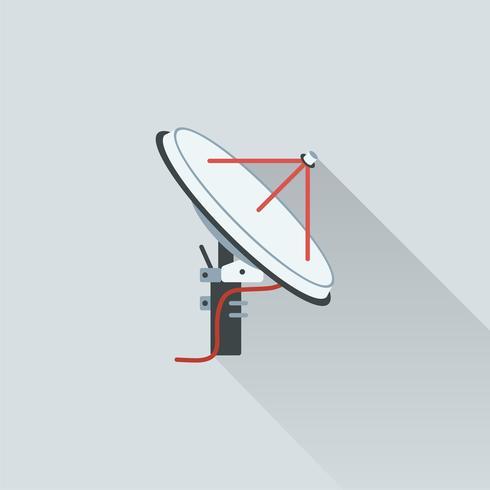 Ilustração, de, satélite, antena