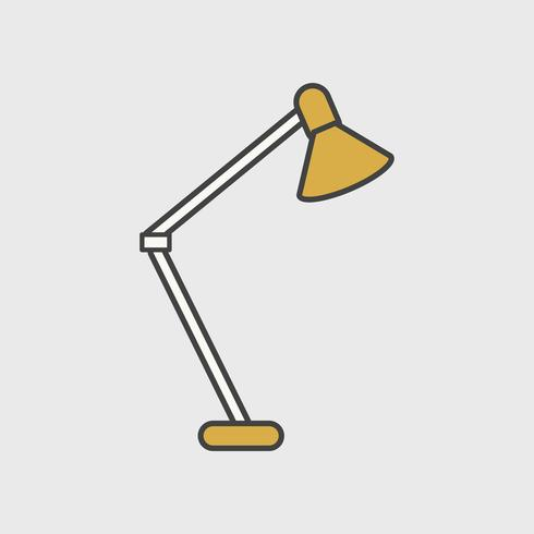 Ilustración del icono de la lámpara