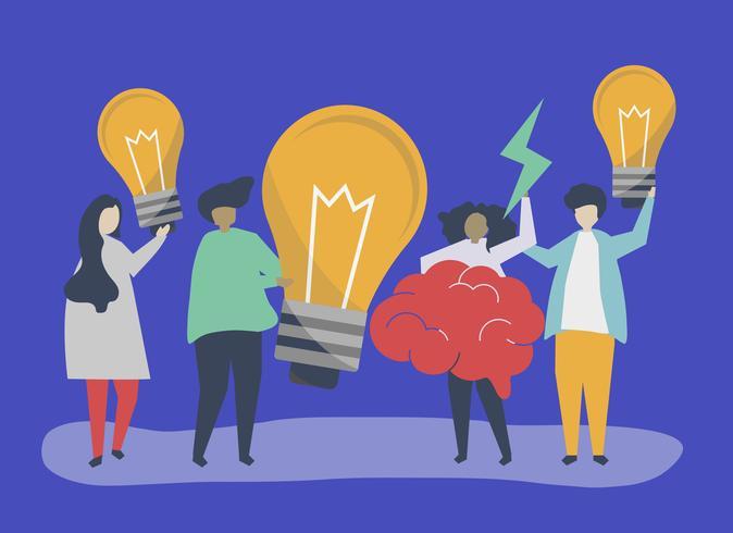 Illustrazione di concetto di idee e creatività