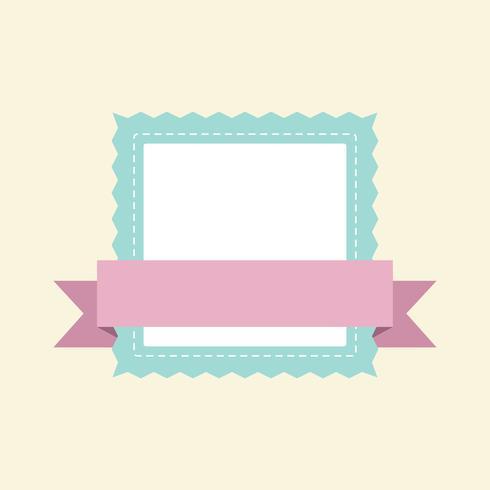Vettore di disegno distintivo del telaio pastello