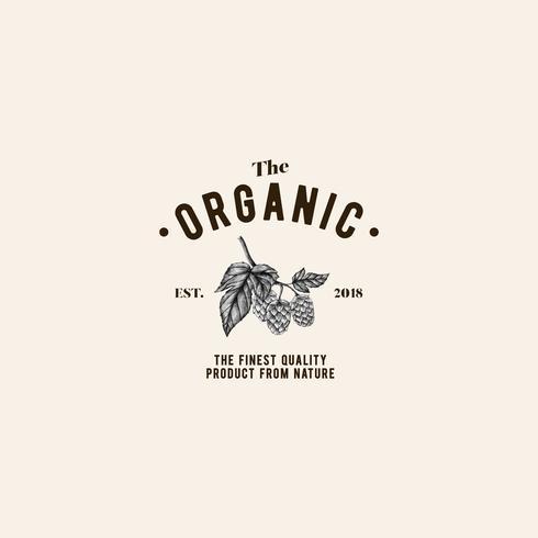 El vector de diseño de logotipo orgánico
