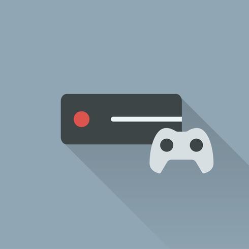 Ilustração, de, jogo, controlador