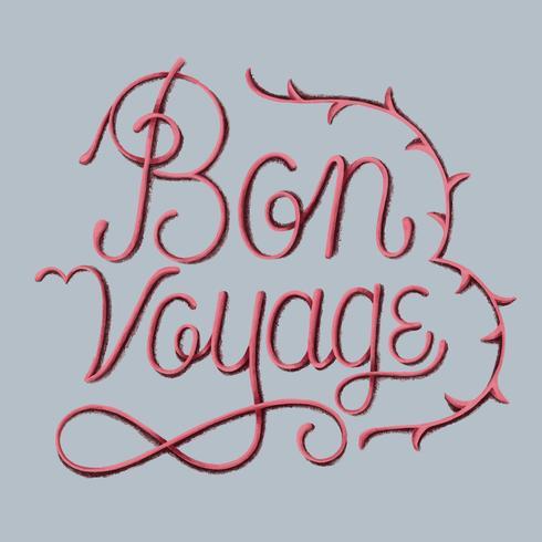 Ilustración de diseño de tipografía de buen viaje