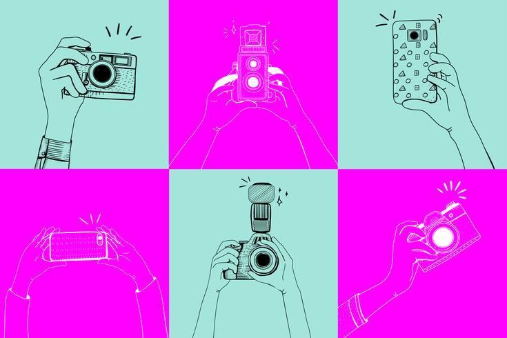 Fotos machen Vektor zeichnen