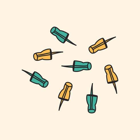 Estilo de dibujo de ilustración estacionaria