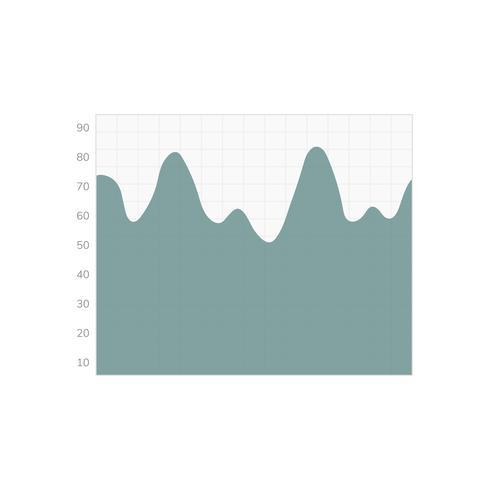 Vettore del infograph del grafico di tasso di crescita