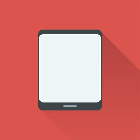 Ilustración de tableta digital aislada