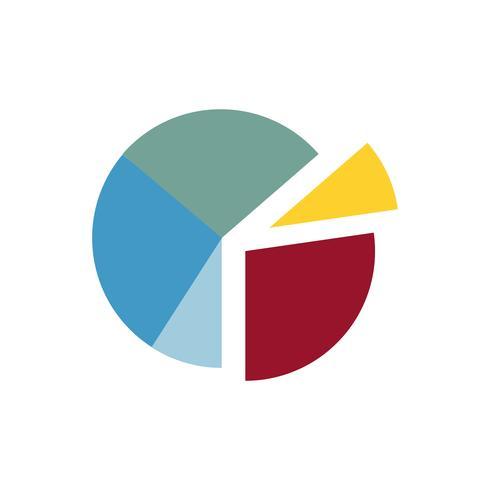 Kleurrijke cirkeldiagram grafische illustratie