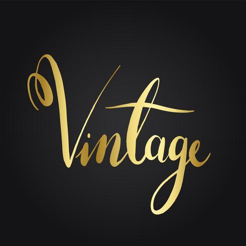 Vecteur de style typographie libellé vintage