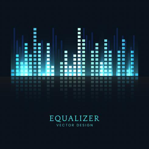 Sound wave equalizer vektor design