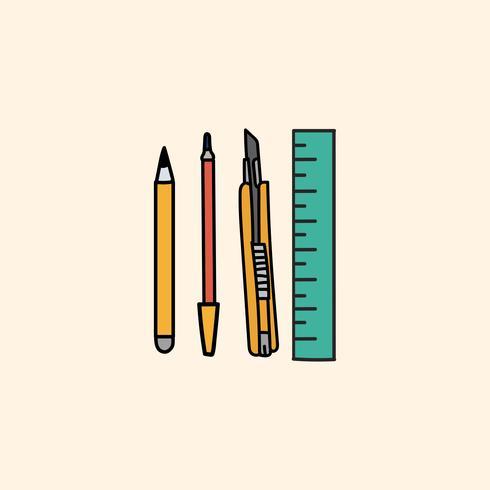 Style de dessin d'illustration stationnaire