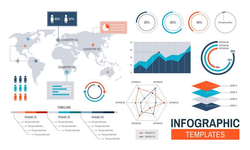 Vettore di progettazione di modelli di infografica