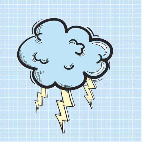 Vector de icono de nube de trueno